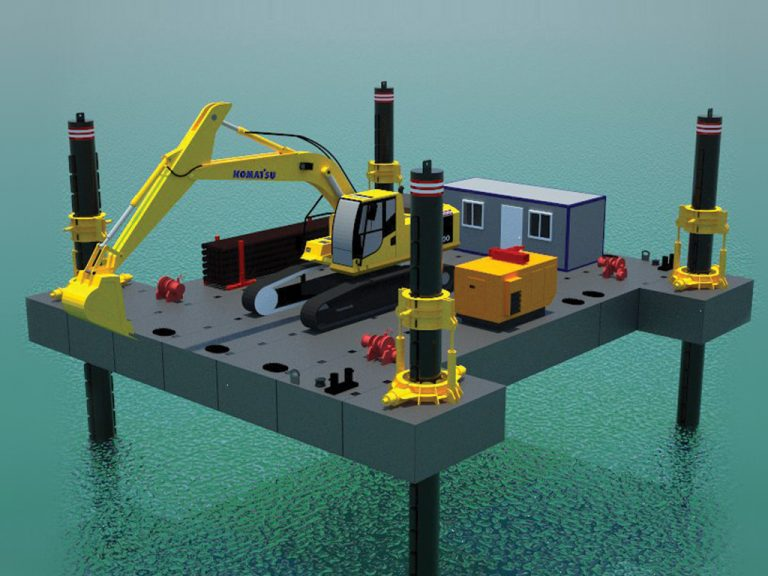 MODULAR JACK-UP BARGE / 170 TONS